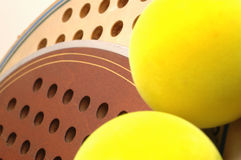 Platform tennis Balls and paddles Royalty Free Stock Image