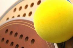 Platform tennis Balls and paddles macro Royalty Free Stock Photo