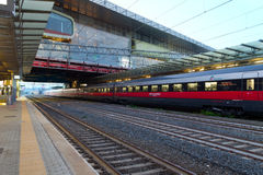 Platform in Tiburtina Railway station in Rome Stock Image