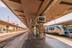 Platform and train at Palermo railway station, Italy Royalty Free Stock Photo