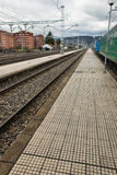 Platform. Of a train station Stock Image