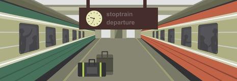 Platform with train Stock Photos