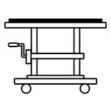 platform trolley lifting boxes cargo manual outline Stock Images
