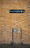 Platform 9 3/4 and Trolley Stock Images