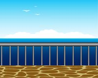 Platform with type on sea Royalty Free Stock Photography