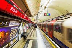 Platform of an underground station in London, UK Royalty Free Stock Image