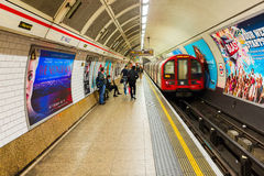 Platform of an underground station in London, UK Royalty Free Stock Photography