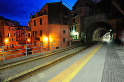 Platform in Vernazza village Stock Photography