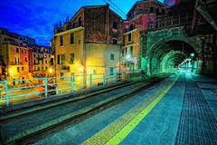 Platform in Vernazza village Royalty Free Stock Photo