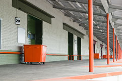 Platform at warehouse Stock Image
