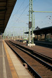 On the platform of Weimar railway station, Germany Stock Image