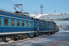 platforma elektryczny pociąg obrazy royalty free