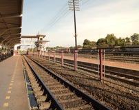 Platforma kolei stacja Obrazy Royalty Free