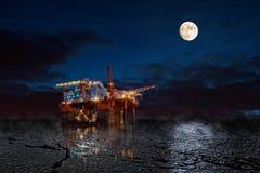 Platforma na morzu Zdjęcia Stock