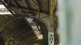 Platforma Vitebskiy stacja kolejowa w St Petersburg zbiory wideo