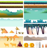 Platformer Game Assets,Set of game elements. Elements for mobile game, 2d game application. Vector Illustration for your. Project Stock Photos