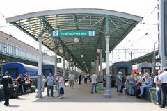 Platformpost Stock Foto