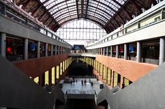 Platforms at Central railway station, Antwerpen Royalty Free Stock Image