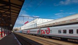 Platforms in Moskovsky Rail Terminal Stock Image