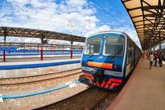 Platforms in Moskovsky Rail Terminal Royalty Free Stock Photography