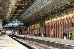 Platforms 2 and 3 Preston railway station Royalty Free Stock Image