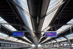 Platforms of the Zurich Main railway station Stock Images