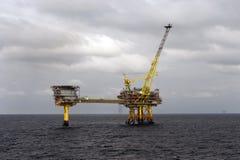 Platformy wiertnicze w Północnym morzu Obraz Royalty Free
