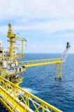 Platfrom a pouca distância do mar Foto de Stock Royalty Free