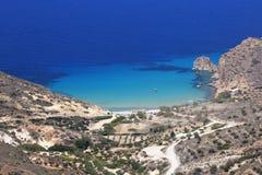 Plathiena Beach on Milos Island Stock Photography