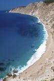 'Platia Ammos' beach at Kefalonia island Stock Photography