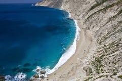 'Platia Ammos' beach at Kefalonia island Royalty Free Stock Photography