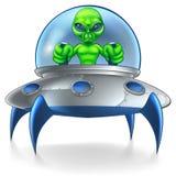 Platillo volante extranjero del UFO Foto de archivo libre de regalías