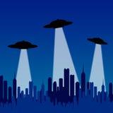 Platillos volantes Foto de archivo libre de regalías
