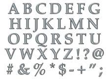 Platin-Alphabet-Versalien Stockbilder