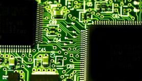 Platin elettrico con le componenti elettriche Fotografia Stock