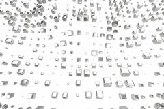 A platina do ouro de prata ou branco obstrui cubos sobre o fundo branco Ilustração da modelagem 3d bitcoin rico da mineração da r ilustração royalty free