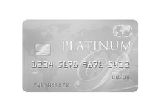 PlatinaCreditcard Royalty-vrije Stock Foto's