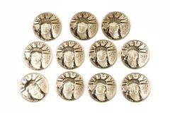 Platine 1997 cent pièces de monnaie du dollar Photographie stock