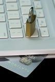 platine de crédit de carte photo stock