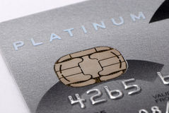 Platine par la carte de crédit Images libres de droits