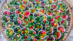 The plating, Thai sweets are generally popular, delicious taste. In Thailand stock photos