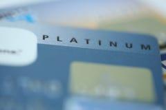 Platino de la tarjeta de crédito Imagen de archivo libre de regalías