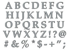 Platinum Alphabet Uppercase Stock Images