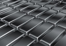 Platinum bars Stock Images