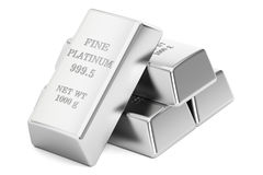 Platinum bars, 3D rendering Stock Photo