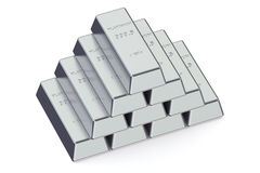 Platinum bars Stock Photography
