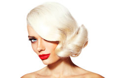Platinum blonde beauty Royalty Free Stock Photos