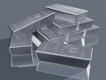 Platinum bullion Royalty Free Stock Photo