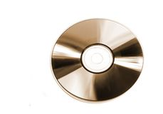 Platinum CD. CD isolated on white toned in sepia Royalty Free Stock Photography