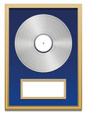 Platinum Certified Platin Record Plaque Blank Frame Royalty Free Stock Image